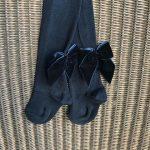 MEIA PATA broekkousen blauw strik achteraan