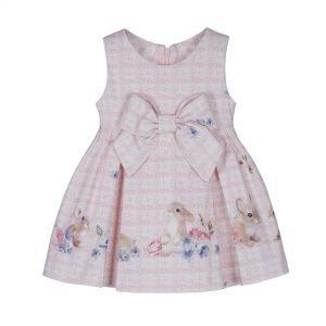 LAPIN HOUSE kleedje roze konijntjes