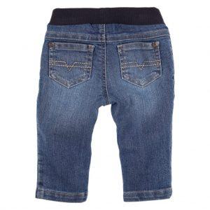 Gymp jeansbroek elastiek blauw