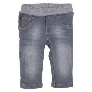 Gymp jeansbroek elastiek grijs
