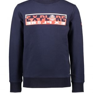 Le Chic Garcon Sweater EXPLORE marineblauw