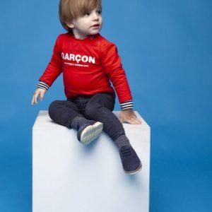 "Le Chic Garcon T-shirt ""Garçon"" Scarlet red"