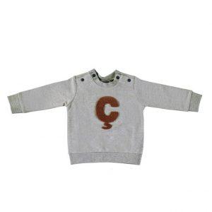 """Le Chic Garcon zachte sweater """"ç"""" seel melee"""