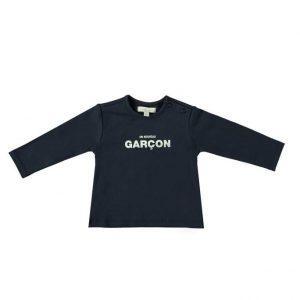 """Le Chic Garcon T-shirt """"Nouveau garçon"""" marine"""