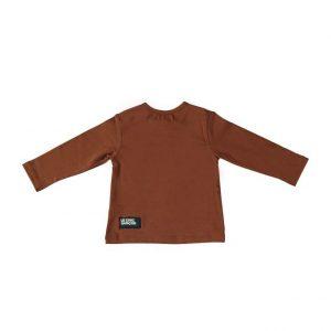 """Le Chic Garcon T-shirt """"un nouveau garçon"""" bruin"""