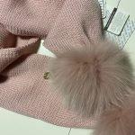 IL TRENINO Sjaal pompon roze