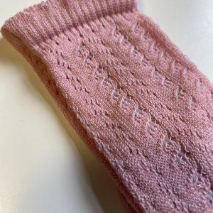MEIA PATA Kniekous Opengewerkt Dry Pink
