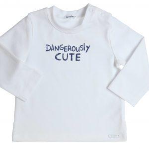 """GYMP Longsleeve """"Dangerously Cute"""" Navy/Wit"""