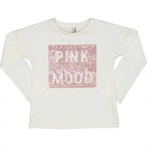 "TRYBEYOND  Longsleeve ""Pink Mood"" Ecru"