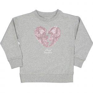 """TRYBEYOND  Sweater """"Heart Breaker""""  Grijs"""