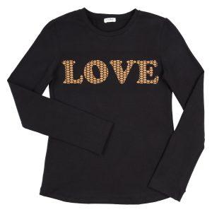 """GYMP  Lonsleeve """"Love"""" Black"""